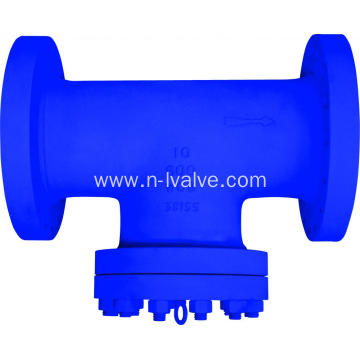 Casted Steel T Type Industrial Strainer